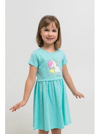 Платье Crockid К 5694/морозная мята, горошки К1268