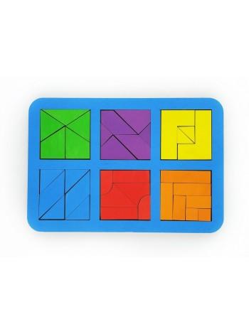 Квадраты Никитина 3 уровня, 6 квадратов, ToySib в интернет-магазине BabyShop159